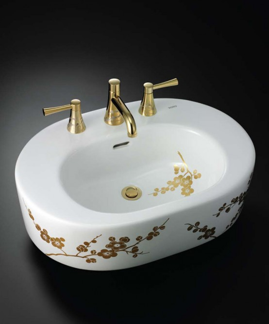 Decorative Luxury Toilets And Washbasins