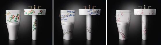 Decorative Luxury Toilets And Washbasins