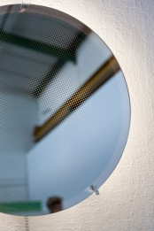 Decorative Moire Mirror With Optical Patterns