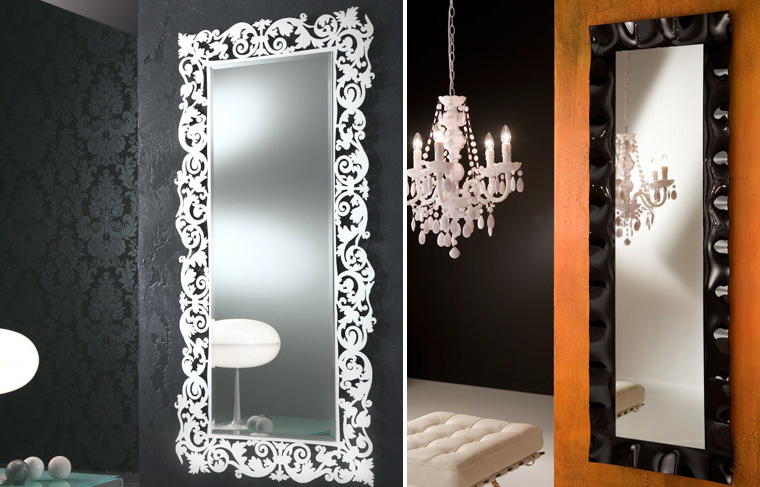 45 decorative wall mirrors by riflessi digsdigs for Long wall hanging mirrors