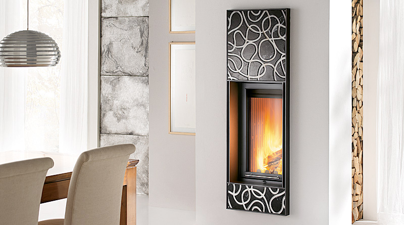 10 creative claddings for modern fireplaces from montegrappa digsdigs. Black Bedroom Furniture Sets. Home Design Ideas