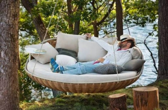 Dedon Swingrest Hanging Lounger For Luxurious Rest