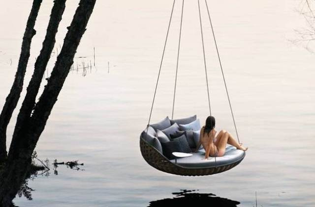 dedon swingrest hanging lounger for luxurious rest digsdigs