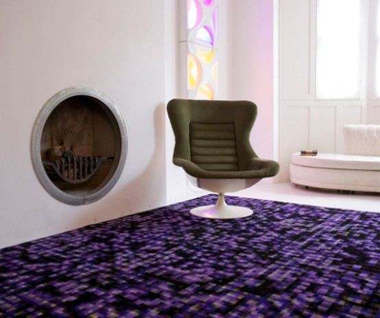 Deep Grid Rug With Mandala Styling In Bright Colors