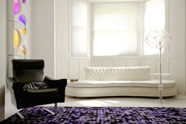 Deep Grid Rugs With Mandala Styling In Bright Colors