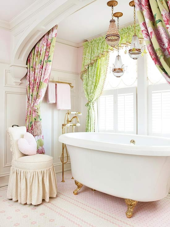70 Delicate Feminine Bathroom Design Ideas
