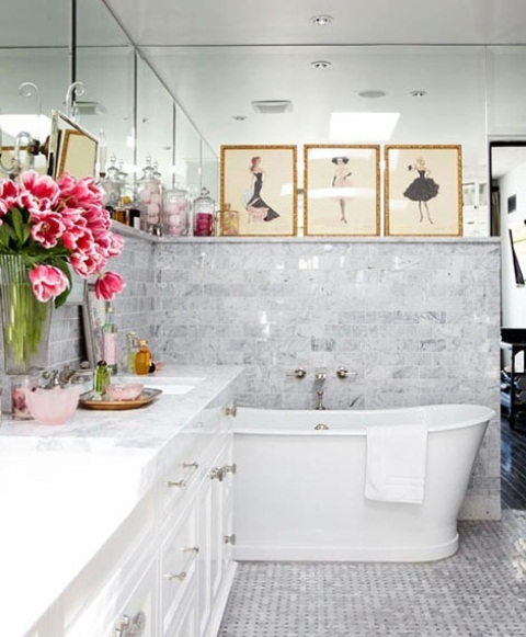 Masculine Master Baths: 70 Delicate Feminine Bathroom Design Ideas