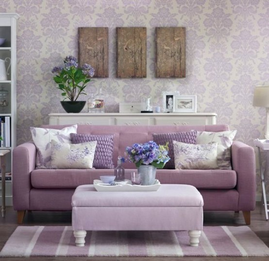 39 Delicate Home Décor Ideas With Lavender Color