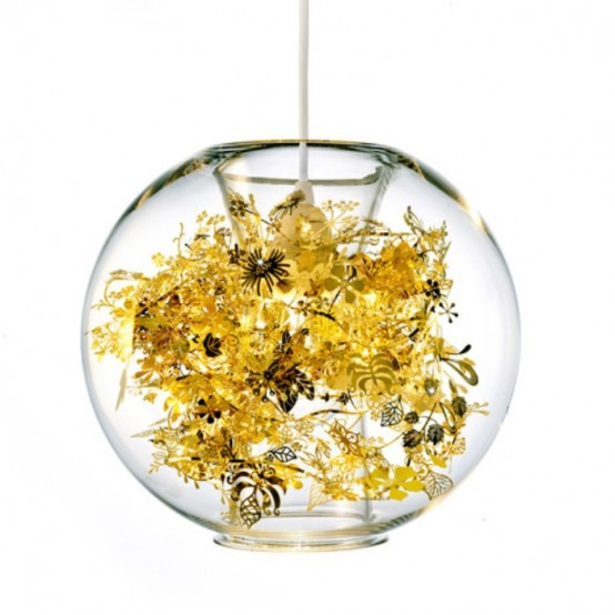 Delicate Lamp Reminding Of Exotic Vegetation