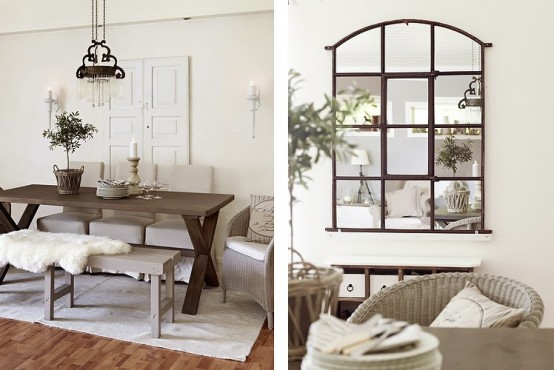 Delicate Rustic House In An Elegant Color Scheme