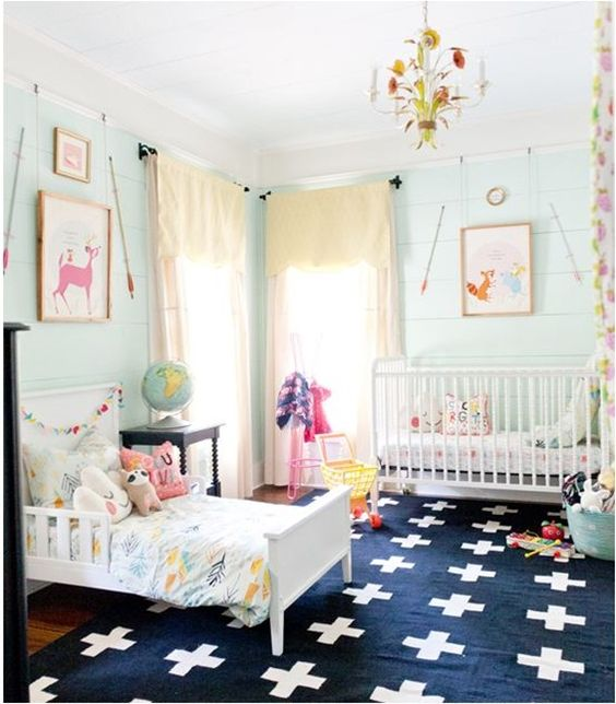 26 delightful shared nurseries for a baby and a toddler digsdigs