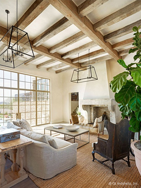 desert farmhouse with warm traditional and rustic interiors digsdigs