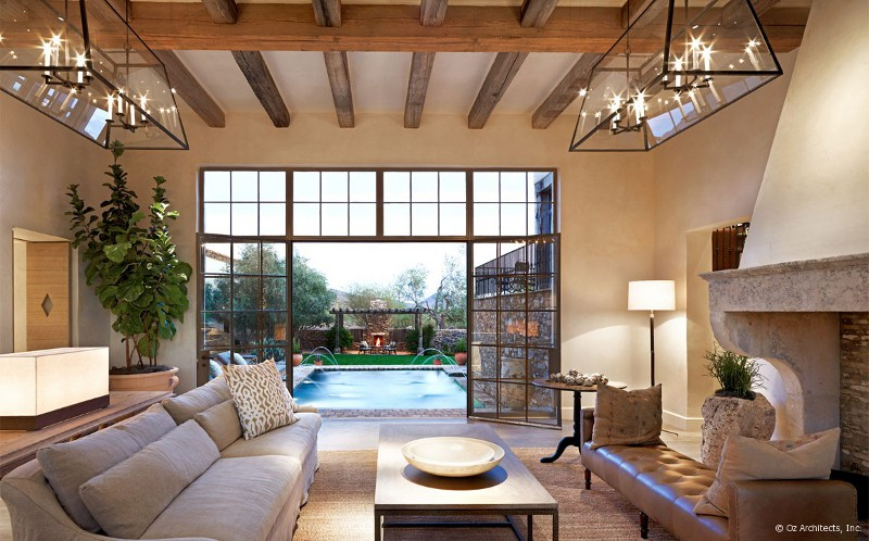 Desert Farmhouse With Warm Traditional And Rustic ...