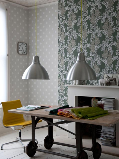 Dining Area With Neutral Wallpapers