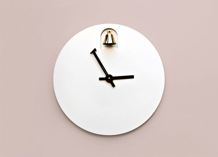 DINN: A Minimalist Clock With A Brass Bell