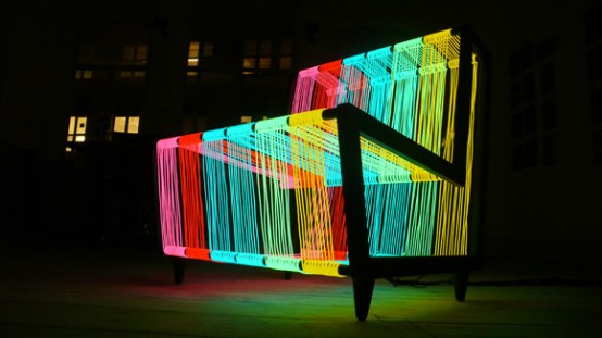 Illuminated Armchair That Could Flash On and Off – Disco Chair