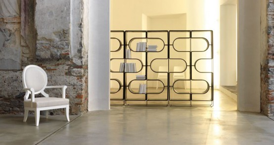 Black Bookcase And Room Divider That Reminds Human's DNA – DNA by Linfa Design