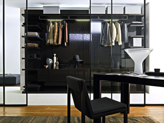 Doc Mobili Walk In Closet With Glass Doors