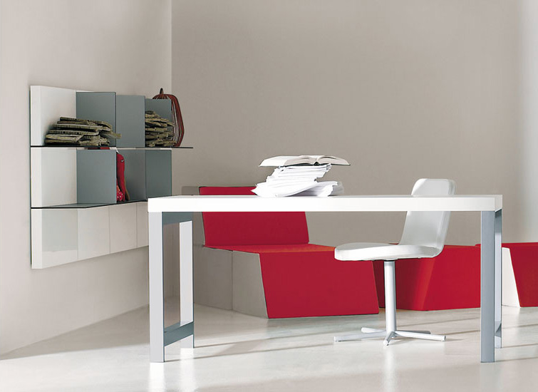 Domino White Working Desk