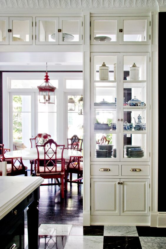 see through kitchen cabinet doors 27 doorway wall storage solutions for small spaces digsdigs 25905