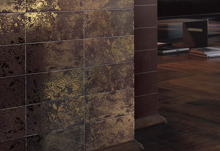 Double Fired Ceramic Tiles With Pure Gold Texture