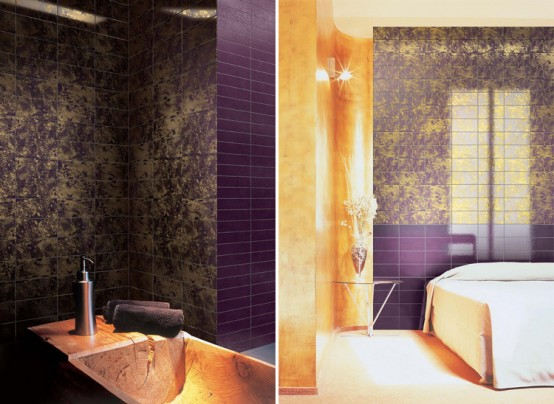 Double-Fired Ceramic Tiles with Pure Gold Texture – Preziosa from Bardelli