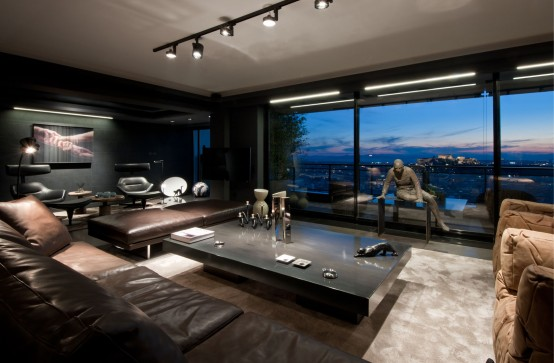 Dramatic And Luxurious Skyfall Apartment In Dark Colors