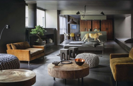 Dramatic Dark Home With Unexpected Accents