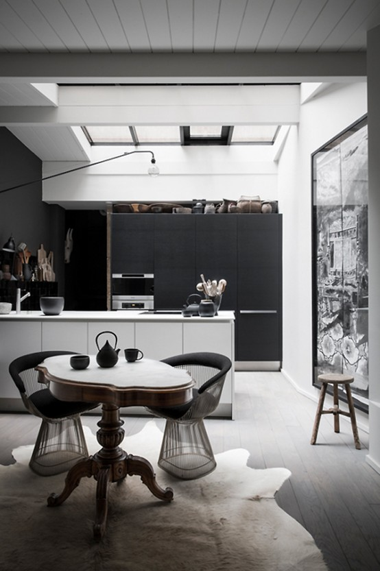 Black Is the New White: Dramatic French Home In Dark Shades