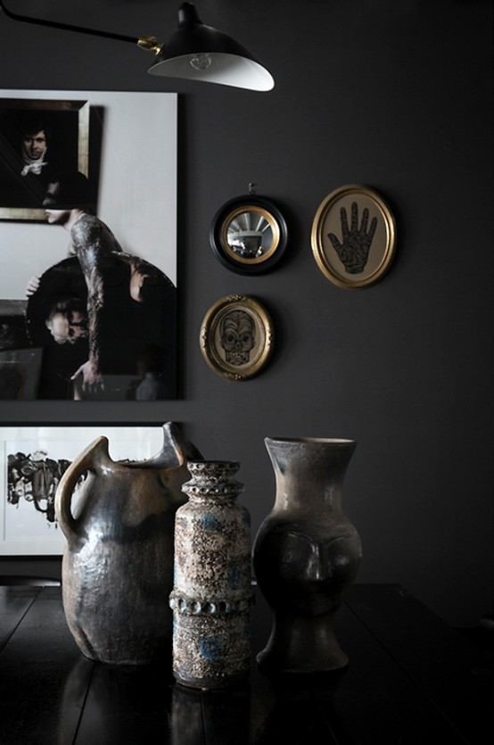 Dramatic French Home In Dark Shades