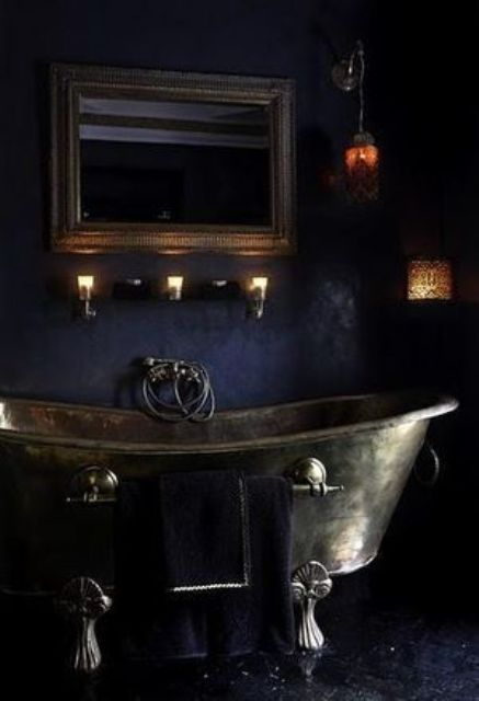 22 Dramatic Gothic Bathroom Designs Ideas