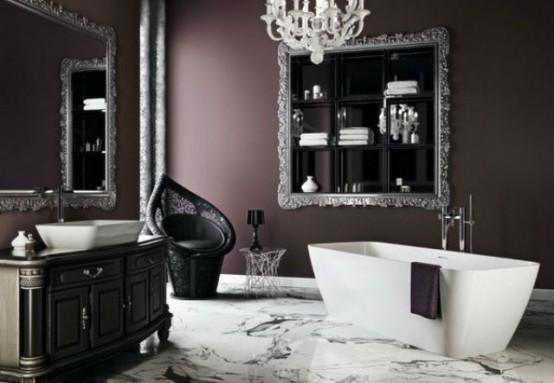 Superb Dramatic Gothic Bathroom Design Ideas
