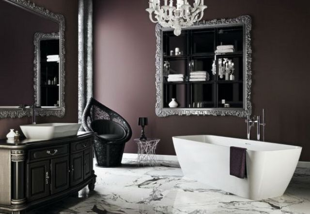 22 dramatic gothic bathroom designs ideas digsdigs for Gothic bathroom ideas