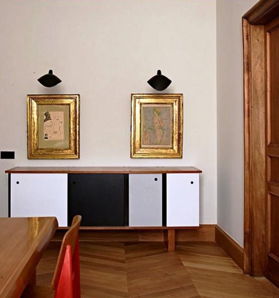 Dramatic Mid Century Modern Apartment In Barcelona