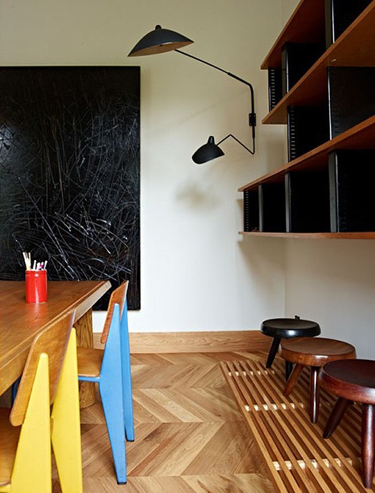 dramatic mid century modern apartment in barcelona digsdigs