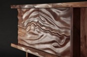Dramatic Sur Credenza With A Ripple Wooden Part