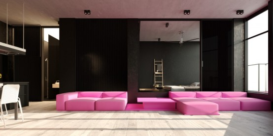 Dramatically Minimalist Ik1 House With Bold Accents