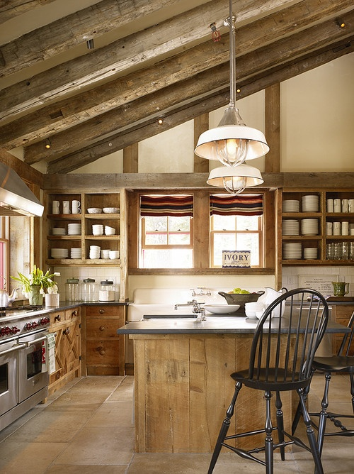 39 dream barn kitchen designs digsdigs for Rustic chic kitchen ideas