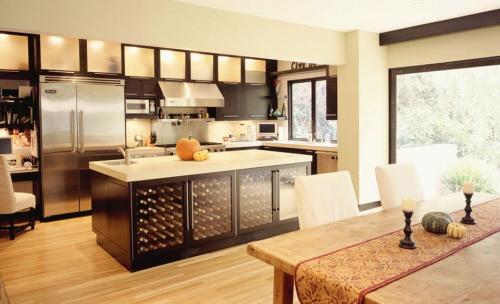 dream modern kitchen wine