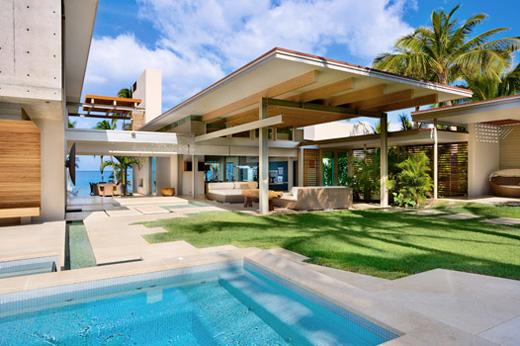 Dream tropical house design in maui by pete bossley for Modern tropical home designs