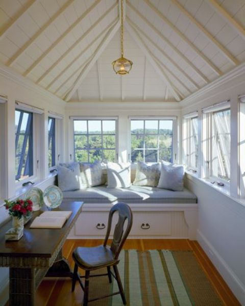 Sunroom Ideas Designs sunroom interior dcor with a wood paneled ceiling view in gallery Dreamy Attic Sunroom Design Ideas