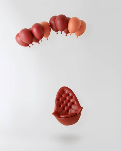 Dreamy Balloon Chair Creating An Illusion Of Flight Digsdigs
