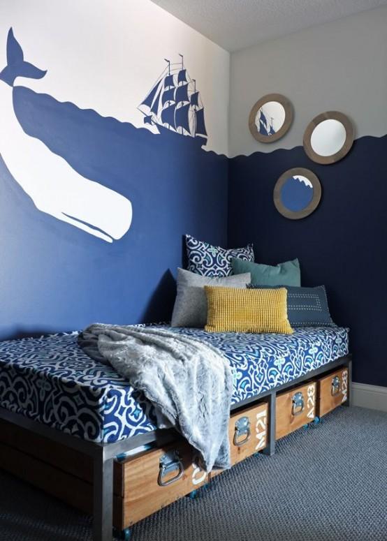 32 dreamy beach and sea inspired kids room designs digsdigs for Sea inspired bedroom designs