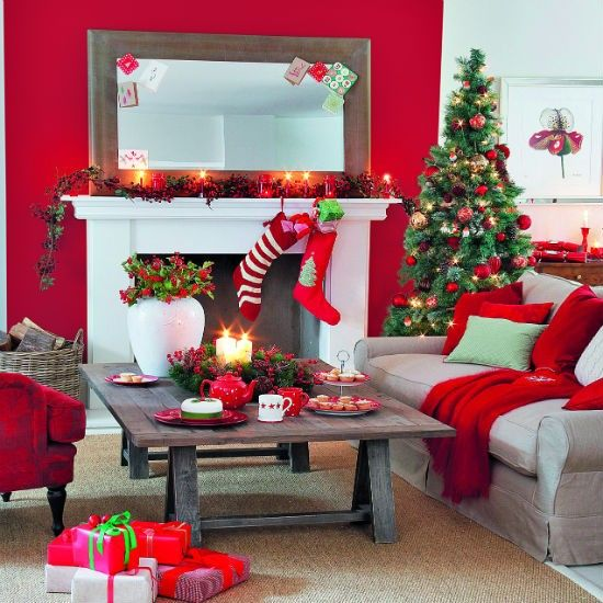 Exceptionnel Dreamy Christmas Living Room Decor Ideas