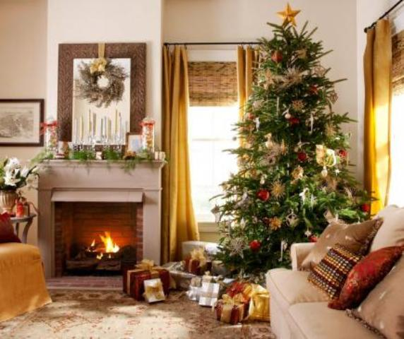 55 wonderful christmas living room d cor ideas for Xmas living room ideas