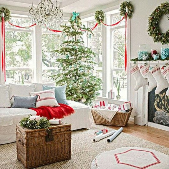 Etonnant 55 Dreamy Christmas Living Room Décor Ideas