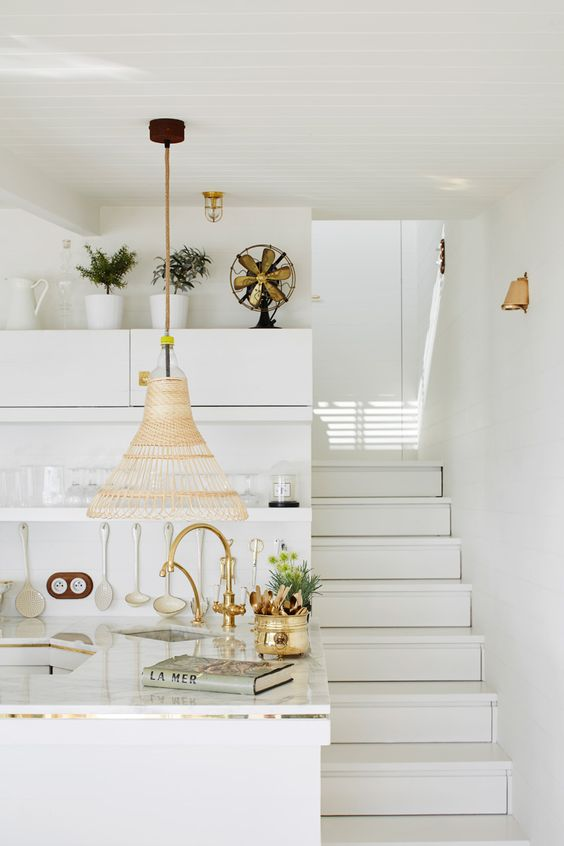 Picture Of dreamy mediterranean vacation home in white  3