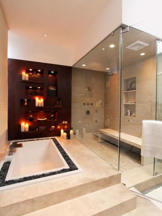 34 Dreamy Sunken Bathtub Designs To Relax In - DigsDigs
