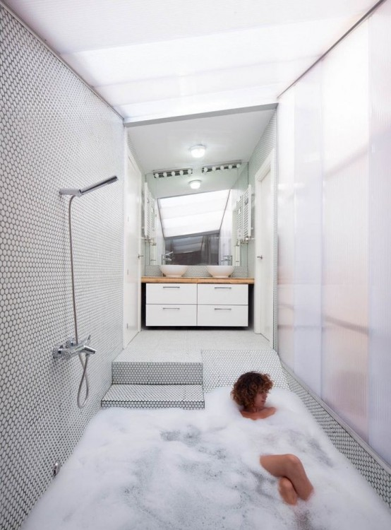 34 Dreamy Sunken Bathtub Designs To Relax In Digsdigs