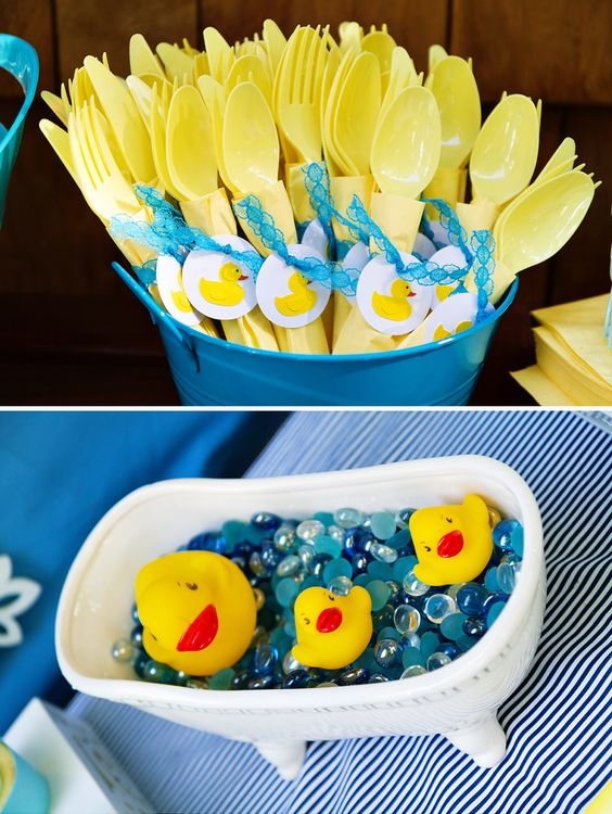 Duck Decorations For A Boy Baby Shower
